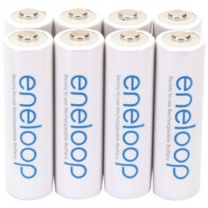 Image of Panasonic Eneloop® Rechargeable Batteries (AA; 8 pk)