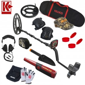 """Image of Fisher F44 Metal Detector Bundle with 11"""" Elliptical & 7"""" Round Search Coil"""