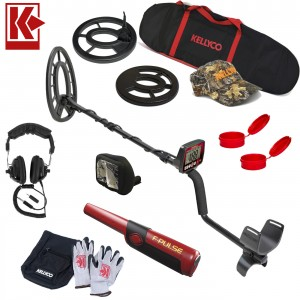 "Image of Fisher F44 Metal Detector Bundle with 11"" Elliptical & 7"" Round Search Coil"