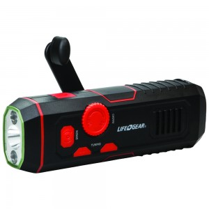 Image of Life + Gear 120-Lumen Stormproof USB Crank Flashlight & Radio
