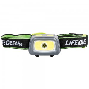 Life + Gear 330-Lumen Spot & Flood COB Headlamp