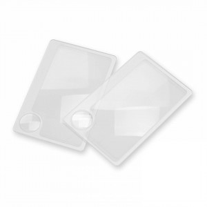 Image of Carson Credit Card-Size Magnifier with 6x Spot Lens, 2 pk