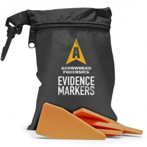 Image of Arrowhead Forensics First Response Evidence Markers - Fluorescent Orange - 20/pk