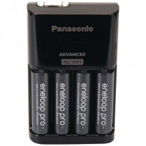 Image of Panasonic 4-Position Charger with AA eneloop® PRO Rechargeable Batteries, 4 pk