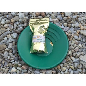 GoldBay Paydirt with Gold Pan Prospecting Bundle