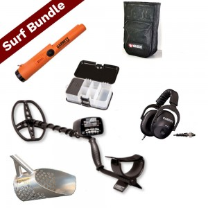 Image of Garrett AT Pro Metal Detector Surf Bundle with Sand Scoop and Pouch