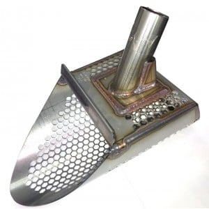 "Image of Detecting Adventures T-Rex 6.5"" Stainless Steel Sand Scoop - Honeycomb Holes"