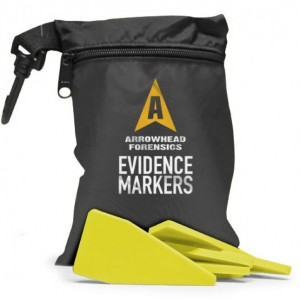 Image of Arrowhead Forensics First Response Evidence Markers - Fluorescent Yellow - 20/pk