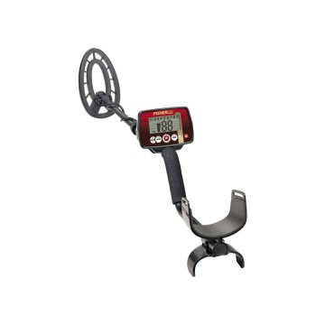 Fisher F22 Weatherproof Metal Detector shown at an angle