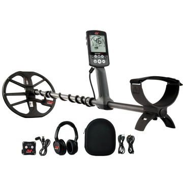 Minelab Equinox 800 Metal Detector shown with all accessories from Kellyco Metal Detectors