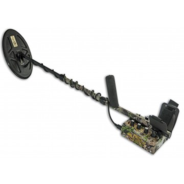 White's TDI Hi-Q Camo Metal Detector shown with Hi-Q coil on white background