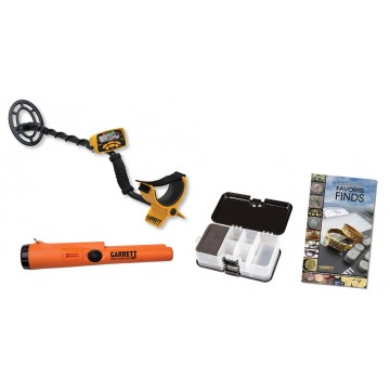 Garrett ACE 300 55-Year Anniversary Special shown with accessories from Kellyco Metal Detectors