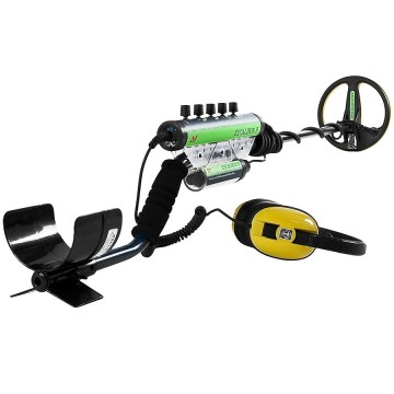 Minelab Excalibur II Metal Detector shown with wired Headphones and