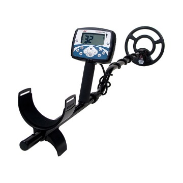Angled view Minelab X-Terra 705 Universal Metal Detector starting at the arm rest