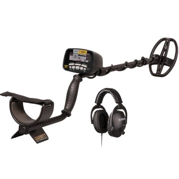 Garrett AT Gold metal detector and MS-2 headphones