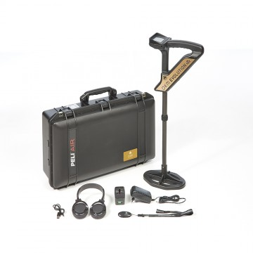 OKM Evolution NTX Metal Detector shown with all accessories from Kellyco Metal Detectors