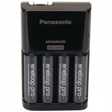 Panasonic 4-Position Charger with AA eneloop® PRO Rechargeable Batteries, 4 pk (Battery)