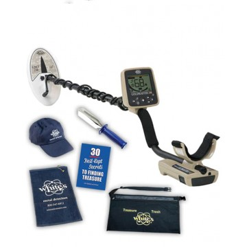 White's Goldmaster 24k Cabin Fever Special shown with included accessories from Kellyco Metal Detectors