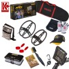 Garrett ACE Apex Metal Detector, Two Extra Search Coils Ripper & Raider and Camo Pouch Bundle