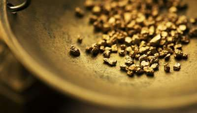 Gold Nuggets on a scale