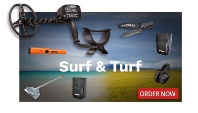 Surf and Turf promotional image from Kellyco Metal Detectors