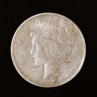 Obverse of Peace Dollar with 1924 Visible Along Lower Edge