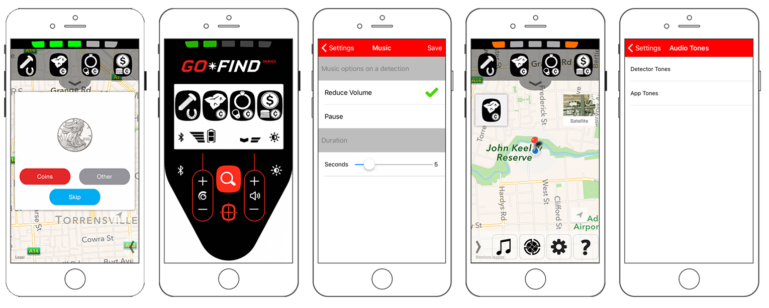 Minelab Go-Find 44 Phone App