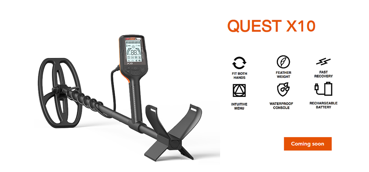 Quest X 10 New Metal Detector